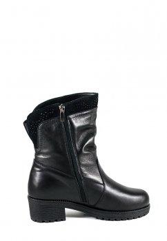 Сапоги зимние женские SND 4065-2-35Б черная кожа