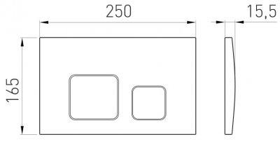 Панель смыва VOLLE CUADRA EVO 222111 глянцевый хром