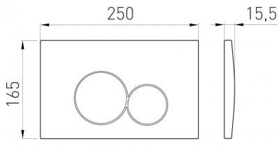 Панель смыва VOLLE VISO EVO 222121 глянцевый хром