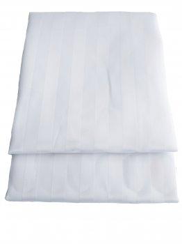 """Штора для ванної текстильна Chaoya """"Смужка"""", 180х180 см, біла"""