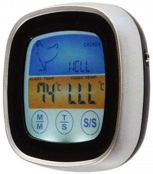 Електронний термометр для м'яса Supretto з РК-дисплеєм Срібло (5982-0001)