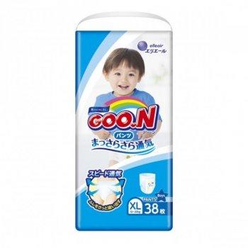 Трусики-підгузки GOO.N для хлопчиків 12-20 кг (розмір Big (XL), 38 шт) (4902011751406) (853629)