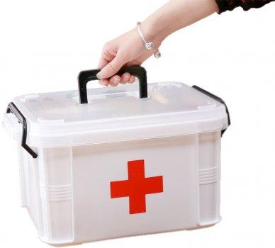 Аптечка медицинская Lifelounge 24 х 17 х 13 см Белая (10676)