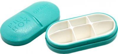Органайзер для таблеток Lifelounge 10х5 см Голубой (10682-3)