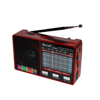 Радіоприймач всехвильовий портативний мережний і акумуляторний з телескопічною антеною Цифрове міні радіо GOLON RX-8866 з USB mp3, WMA бездротовий FM/AM