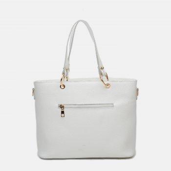 Жіноча сумка шкіряна Palmera 10l953-white Біла (ROZ6400034387)
