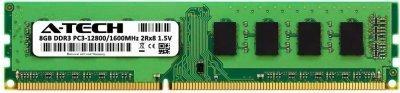Оперативная память A-Tech 8GB DDR3-1600 (PC3-12800) DIMM 2Rх8 (AT8G1D3D1600ND8N15V)