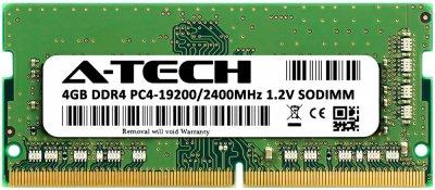Оперативная память A-Tech 4GB DDR4-2400 (PC4-19200) SODIMM 1Rx8 (DDR4/2400C17R1S/4G)