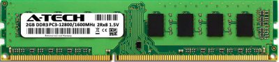 Оперативная память A-Tech 2GB DDR3-1600 (PC3-12800) DIMM 2Rх8 (AT2G1D3D1600ND8N15V)