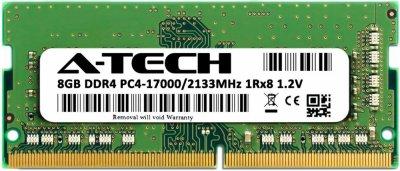 Оперативная память A-Tech 8GB DDR4-2133 (PC4-17000) SODIMM 1Rx8 (AT8G1D4S2133NS8N12V)