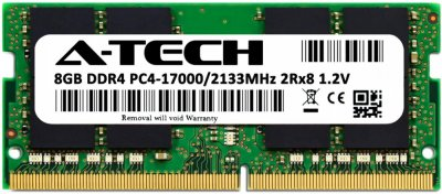 Оперативная память A-Tech 8GB DDR4-2133 (PC4-17000) SODIMM 2Rx8 (AT8G1D4S2133ND8N12V)