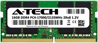 Оперативная память A-Tech 16GB DDR4-2133 (PC4-17000) SODIMM 2Rx8 (AT16G1D4S2133ND8N12V)