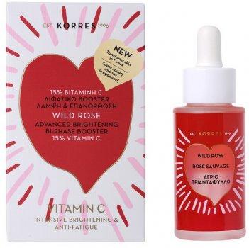 Бустер для лица Korres с маслом Дикой Розы и витамином С 30 мл (5203069075650)