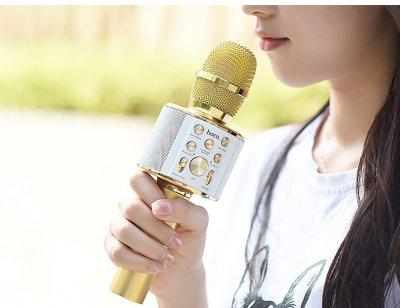 Мікрофон караоке HOCO BK3. Gold