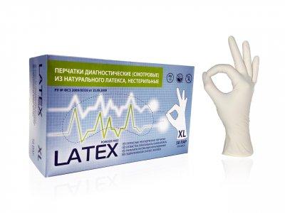 Перчатки медицинские латексные XL НЕопудренные, Mediok, 1 штука