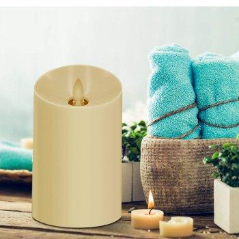 Увлажнитель воздуха в форме свечи, ароматизатор Hysure 120 Мл Аромалампа с теплой LED-подсветкой