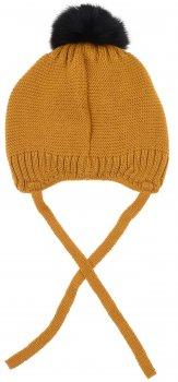 Зимняя шапка с завязками Giamo Iceland 1922KCWKICB01/09 50-52 см Желтая (5903271532810)