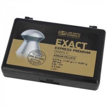 Пульки JSB Exact Express Premium, 4,52 мм , 0,51 г, 200 шт/уп (10257-200)