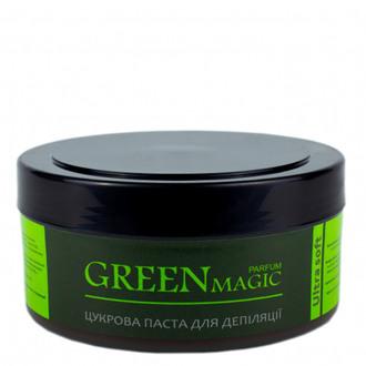 """Парфумована цукрова паста для шугарінга """"Ультра М'яка"""" Silk&Soft PARFUM GREEN MAGIC Ultra Soft, 400 гр"""