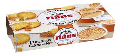 Десерт Rians сливочный с галетным печеньем, 2х90г