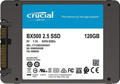 "Накопичувач SSD Crucial 120GB 2.5"" SATAIII 3D NAND TLC (CT120BX500SSD1)"