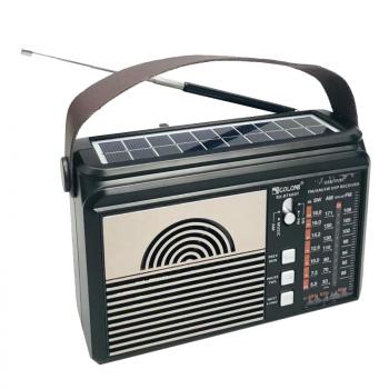 Цифрове міні радіо GOLON RX-BT660T + BLUETOOTH Радіоприймач всехвильовий портативний з телескопічною антеною з USB mp3, WMA бездротовий FM/AM мережевий і акумуляторний