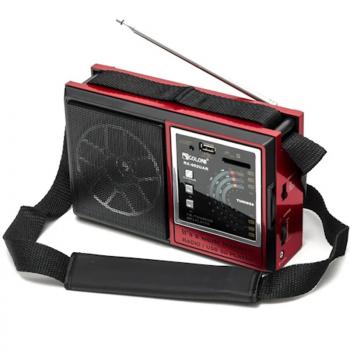 Цифровое мини радио GOLON RX-002UAR Радиоприемник всеволновой портативный с телескопической антенной с USB mp3, WMA беспроводной FM/AM сетевой и аккумуляторный