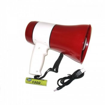 Гучномовець рупор ручної мегафон акумуляторний Megaphone UKC ER-22 (gr_008331)
