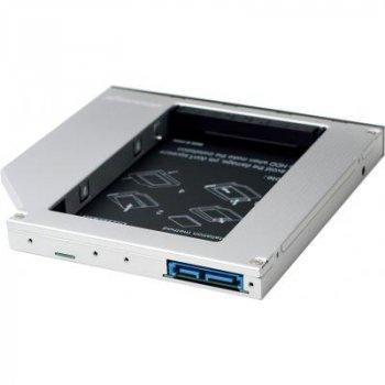 """Фрейм-адаптер Grand-X HDD 2.5"""" to notebook 12.7 mm ODD SATA3 (HDC-27)"""