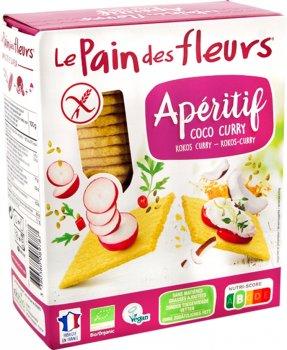 Органические хлебцы Le Pain des Fleurs с кокосом и карри 150 г (3380380089787)