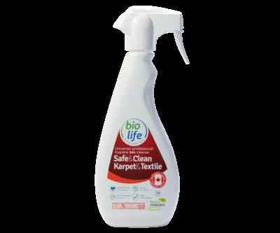 Bio моющее средство пятновыводитель для ковровых и текстильных поверхностей с контролем запаха BioLife Safe&Clean Carpet&Textile Karpet Kare 500 мл