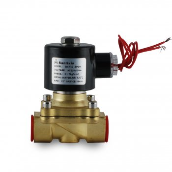 """Нормально закритий клапан Sanlixin прямої дії 1-1/4"""" RF-SV-2W-32C (220V)"""