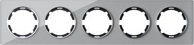 Горизонтальная рамка на 5 приборов OneKeyElectro Garda Серая (2E52501302)