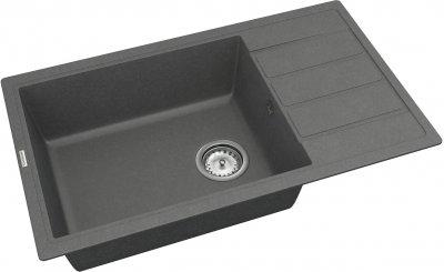 Кухонная мойка VANKOR Easy EMP 02.76 XL Gray с сифоном