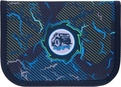 Пенал без наповнення Kite Education Cross-country 1 відділення 2 закоти Темно-синій (K21-622-6)