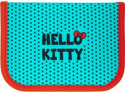Пенал без наполнения Kite Education Hello Kitty 1 отделение 2 отворота Бирюзовый (HK21-622)