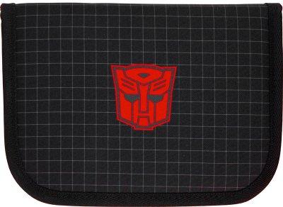 Пенал без наполнения Kite Education Transformers 1 отделение 2 отворота Черный (TF21-622)