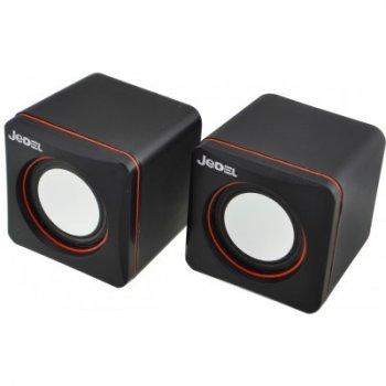 Колонки 2.0 JEDEL JD-CK4 USB+3.5 mm, 2x3W, 90Hz - 20KHz, з регулятором гучності, Black, BOX [JD-CK4]