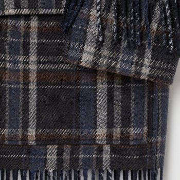 Пальто H&M 2803-8921742 Серое с синим