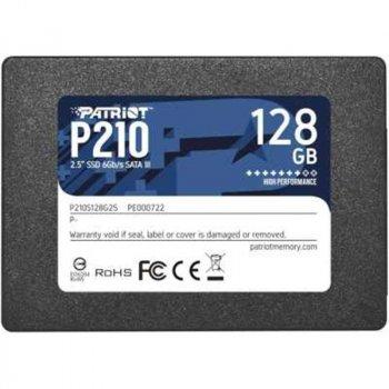 "Накопичувач SSD 128GB Patriot P210 2.5"" SATAIII TLC P210S128G25"