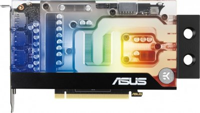 Видеокарта Asus, GeForce RTX 3070, EK Water Block, 8Gb GDDR6, 256-bit, HDMI/3xDP, 1755/14000 MHz, 1x12-pin (RTX3070-8G-EK)