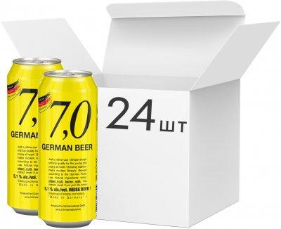 Упаковка пива 7,0 German Beer Weissbier светлое нефильтрованное 5.1% 0.5 л x 24 шт (4014086073304)