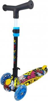 Самокат Daddychild Голубой с подсветкой колес (HD009TW-Blue) (6900066429620)