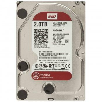 Накопичувач HDD SATA 2.0TB WD Red 5400rpm 64МB (WD20EFRX)