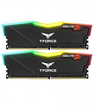 Модуль пам`яті DDR4 2x8GB/3200 Team T-Force Delta Black RGB (TF3D416G3200HC16CDC01)