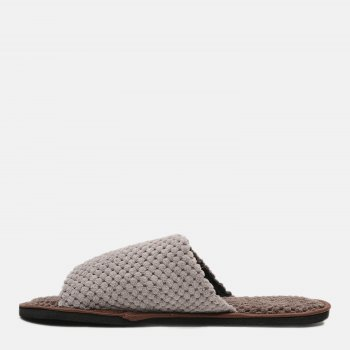 Комнатные тапочки FX shoes 18043 Серо-коричневые
