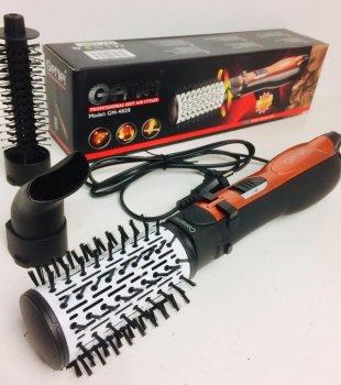 Фен-щітка стайлер для укладання браш c насадками Gemei GM-4828 з обертовою насадкою (3 насадки 1000 Вт)