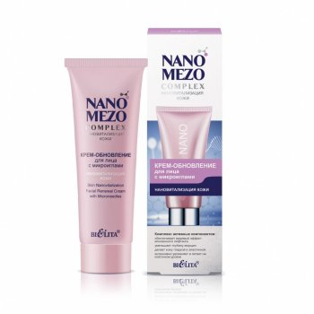 Беліта, NANOMEZOCOMPLEX, КРЕМ-оновлення для обличчя з мікроголками Нановіталізація шкіри, 50 мл(4810151027766)
