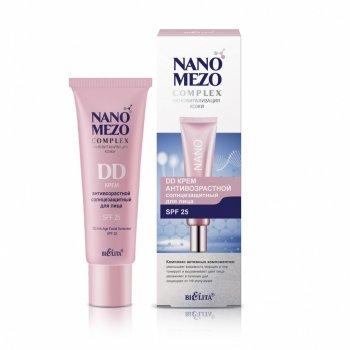Беліта, NANOMEZOcomplex, DD КРЕМ Антивіковий сонцезахисний для обличчя SPF25, 30 мл(4810151027803)
