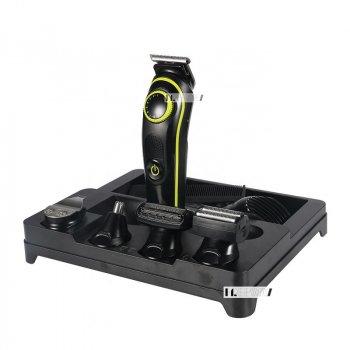 Триммер стайлер для стрижки волос и бороды профессиональный аккумуляторный беспроводной 5в1 Kemei (KM-696)